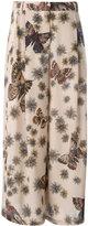 Valentino Mariposa Garden trousers - women - Silk - 40