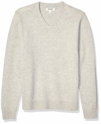 Goodthreads Lambswool V-neck Sweater Light Grey M Tall