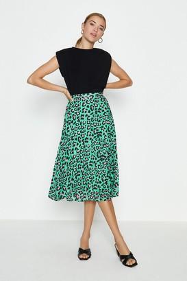 Coast Animal Print Midi Skirt