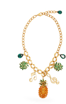 Dolce & Gabbana Tropicana crystal-embellished necklace