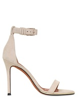 100mm Suede Ankle Strap Sandals