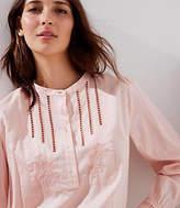LOFT Cutout Henley Shirt