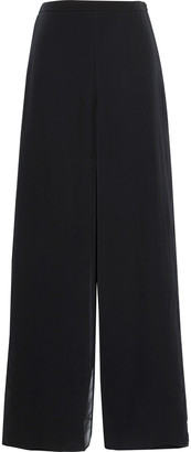 Max Mara Filmato Layered Silk-chiffon And Jersey Wide-leg Pants
