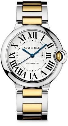 Cartier Ballon Bleu de 18K Yellow Gold & Stainless Steel Bracelet Watch/36MM