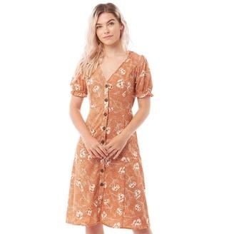 Brave Soul Womens Athena Dress Rust Combo