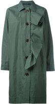 Sofie D'hoore ruffle trim buttoned coat - women - Cotton - 36