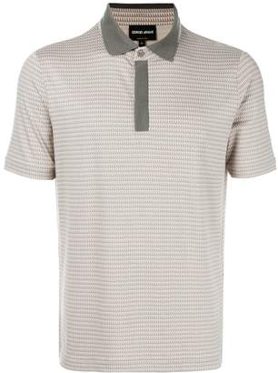 Giorgio Armani embroidered polo shirt