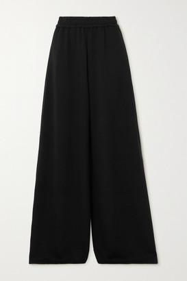 Adam Lippes Jersey Wide-leg Track Pants - Black