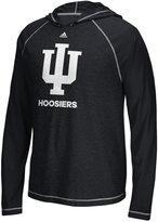 adidas Men's Indiana Hoosiers Loyal Fan Climalite Hooded Long Sleeve T-Shirt