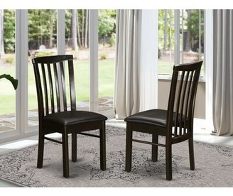 Andover Mills Artin Slat Back Side Chair Color: Cappuccino