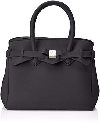 save my bag Women's 10104N-LY-TU Top-Handle Bag Black