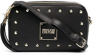 Versace Jeans Couture Studded Leather Crossbody Bag