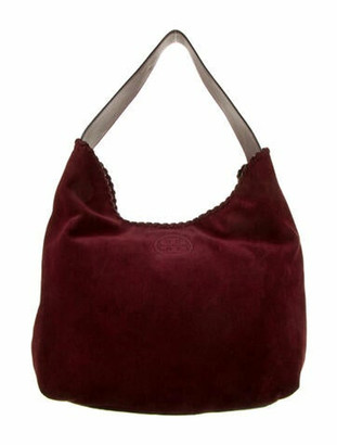 Tory Burch Suede Hobo Bag Red