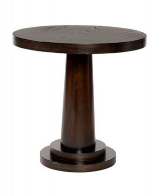 Bernhardt Mercer Solid Wood Pedestal End Table