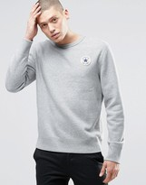 Converse Core Crew Neck Sweat In Grey 10002133-A01