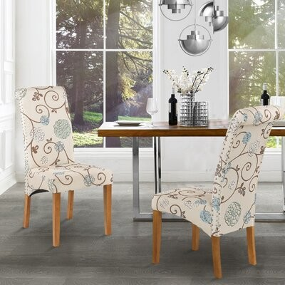 Red Barrel Studio Brais Linen Upholstered Parsons Chair In Beige Shopstyle