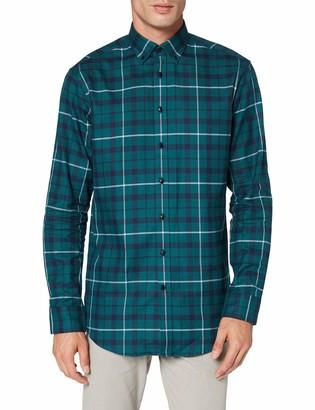 Seidensticker Men's Regular Langarm karo Flanell Dress Shirt