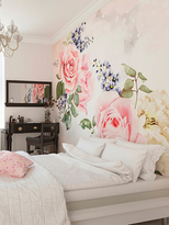 Roses and Sparkles Wall Mural