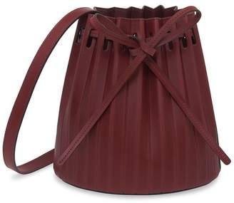 Mansur Gavriel Bordo Mini Pleated Bucket Bag - Bordo