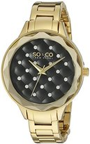 SO&CO New York Women's 'Madison' Quartz Metal and Stainless Steel Dress Watch, Color:Gold-Toned (Model: 5255.3)