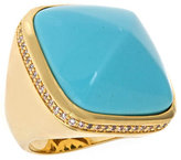 Lauren G. Adams Turquoise Pyramid Cocktail Ring