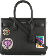 Saint Laurent classic baby Sac de Jour multi-patch tote - women - Calf Leather/Leather - One Size