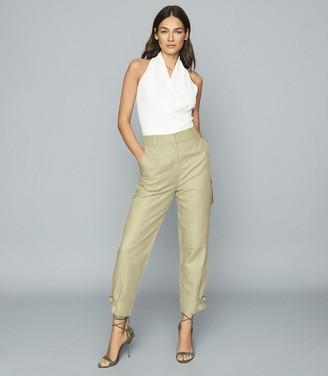 Reiss Eden - Cotton-blend Utility Trousers in Light Green