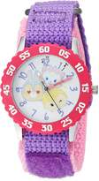 Disney Girl's 'Tsum Tsum' Quartz Stainless Steel and Nylon Casual Watch, Color: (Model: WDS000115)