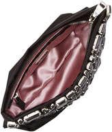 Prada Raso Jeweled Pochette Bag, Black (Nero)