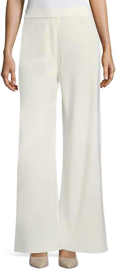 Misook Plus Size Fit & Knit Palazzo Pants