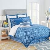 Jill Rosenwald Plimpton Flame Queen Bed Skirt in Blue/White