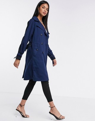 G Star G-Star Duty classic trench coat in imperial blue
