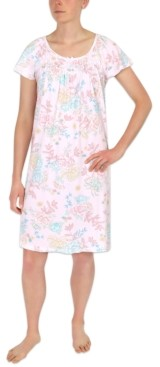 Miss Elaine Floral-Print Sleepshirt Nightgown