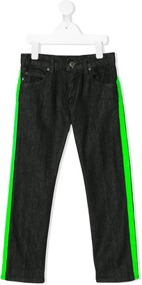 Emporio Armani Kids Side Panel Trim Jeans