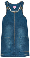 Joules Little Joule Girls' Denim Pinafore Dress, Blue