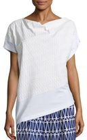 Issey Miyake Patterned Asymmetric Top