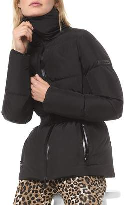 MICHAEL Michael Kors Quilted Belted Down Jacket
