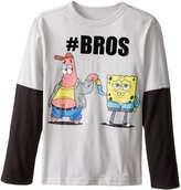 Nickelodeon SpongeBob Squarepants Big Boys' Spongebob & Patrick #Bros Boys 8-20 L/s Two-fer