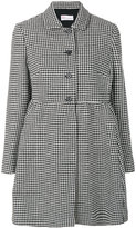 RED Valentino houndstooth pattern coat - women - Polyamide/Polyester/Acetate/other fibers - 40
