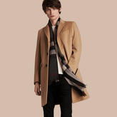 Burberry Wool Cashmere Tailored Coat , Size: 44, Brown
