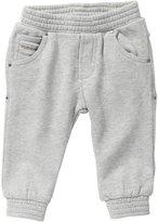 Diesel Plokki Fleece Sweatpant (Baby) - Gray-9 Months