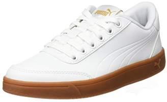 Puma Court Breaker L Mono Trainers, White White-Metallic Gold