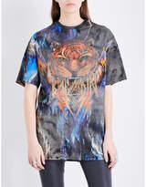 Balmain Tiger-print cotton-jersey T-shirt