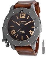U-Boat Men's U42 Automatic Black Dial Brown Genuine Leather