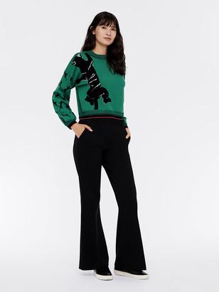 Diane von Furstenberg Dexa Merino-Wool Cropped Pullover