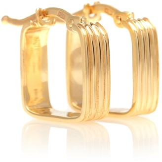 ALIITA Cuadrado B Rayado 9kt gold earrings
