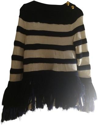 Sacai Blue Wool Knitwear for Women