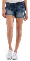 KUT from the Kloth Gidget Distressed Fray Hem Denim Shorts