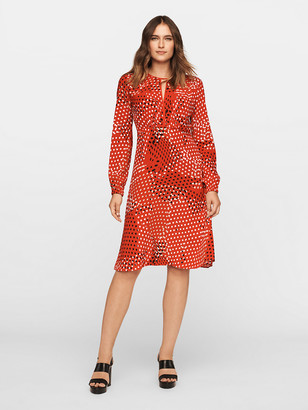 Diane von Furstenberg Andrea Eco-Crepe Long-Sleeve Dress