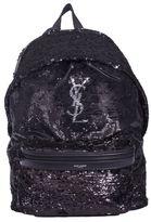 Saint Laurent Black Sequins Backpack